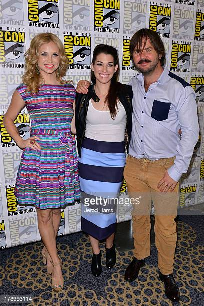 Actors Fiona Gublemann Dorian Brown and Jason Gann attend the 'Wilfred' screening and QA ComicCon International 2013 at Hilton San Diego Bayfront...