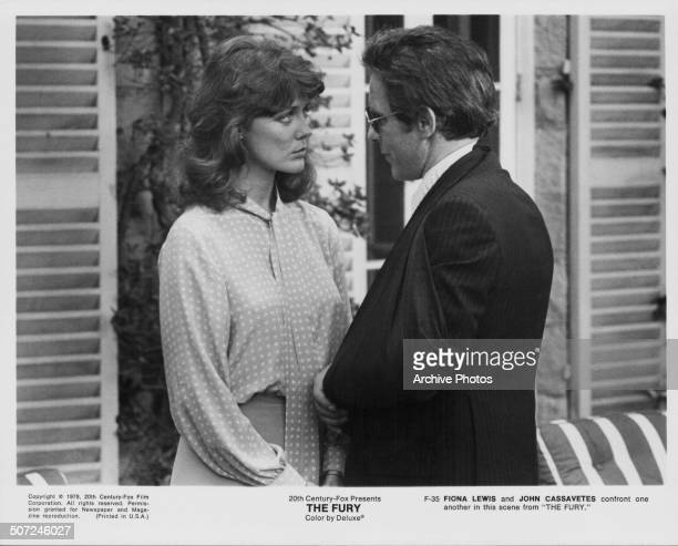 Actors Fiona Lewis and John Cassavetes in a scene from the movie 'The Fury', 1978.