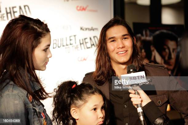 Actors Fivel Stewart and Boo Boo Stewart attend KoreAm Journal and Audrey Magazine's advanced screening of 'Bullet To The Head' at CGV Cinemas on...