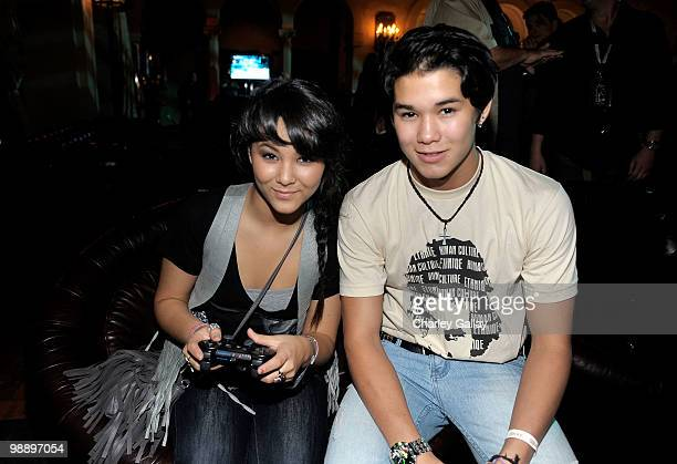 Actors Fivel Stewart and BooBoo Stewart attend the Lost Planet 2 Lounge at The Roosevelt Hotel on May 6 2010 in Hollywood California