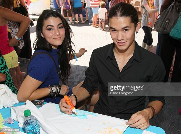Actors Fivel Stewart and Booboo Stewart attend Variety's Power of Youth presented by Cartoon Network held at Paramount Studios on September 15 2012...
