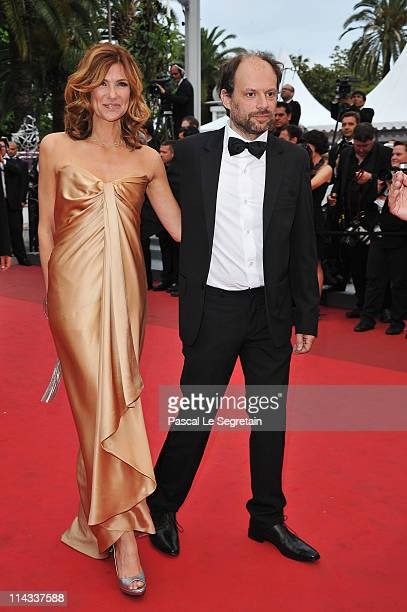 Actors Florence Pernel and Denis Podalydes attend the La Conquete premiere during 64th Annual Cannes Film Festival at Palais des Festivals on May 18...