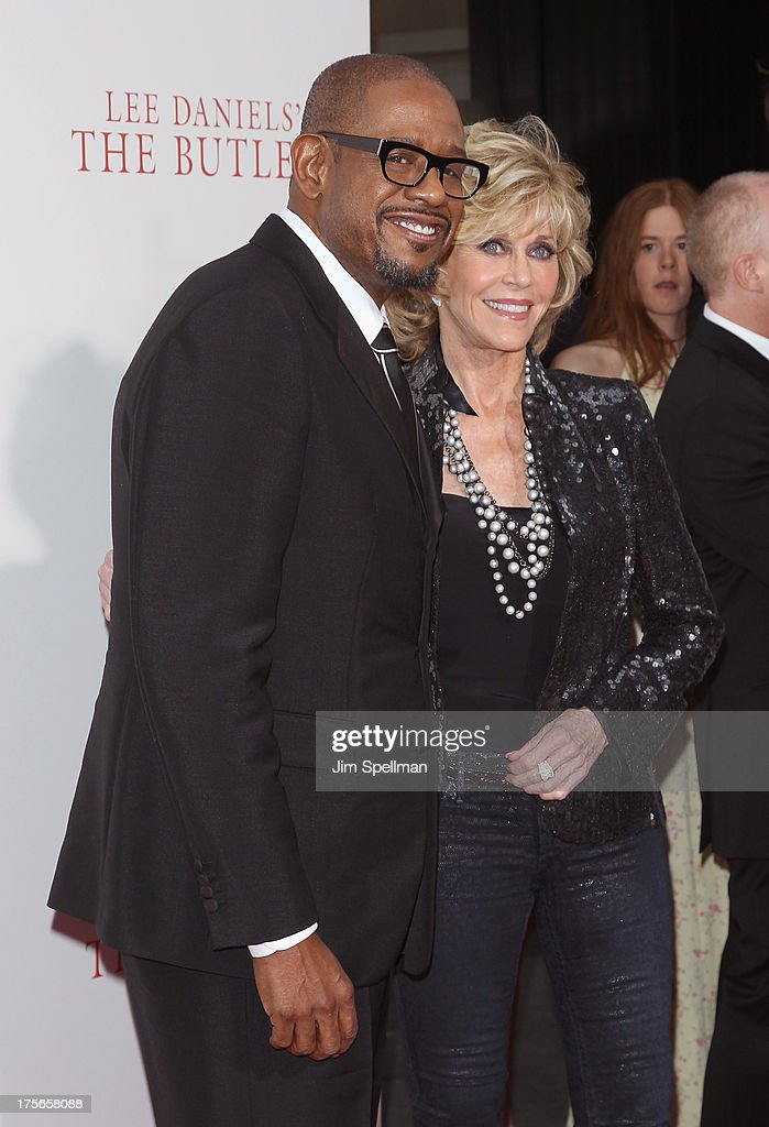 Actors Forest Whitaker and Jane Fonda attend Lee Daniels' 'The Butler' New York Premiere at Ziegfeld Theater on August 5, 2013 in New York City.