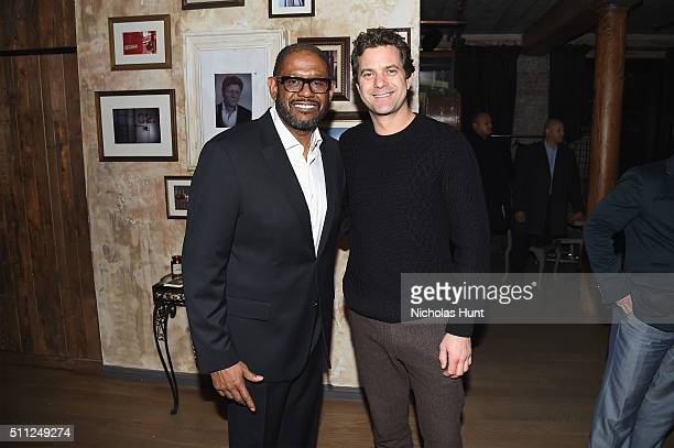 Actors Forest Whitaker and Joshua Jackson attend as Harvey Weinstein hosts a celebration for Forest Whitaker in Eugene O'Neill's 'Hughie' at Elyx...