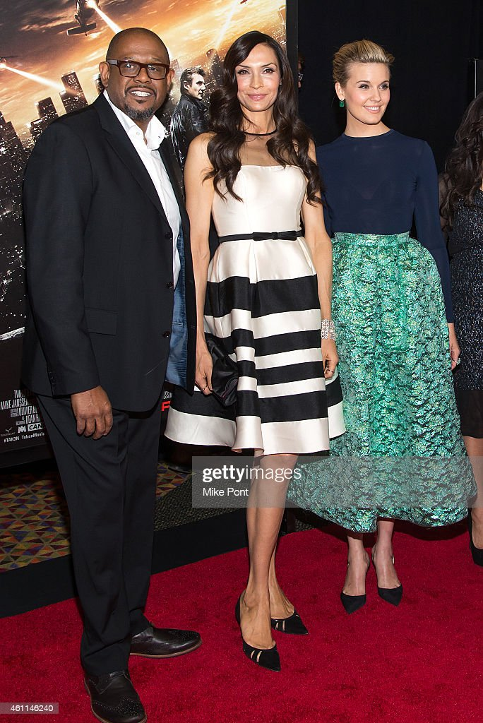 Actors Forest Whitaker, Famke Janssen, Maggie Grace attend the 'Taken 3' Fan Event Screening at the AMC Empire 25 theater on January 7, 2015 in New York City.