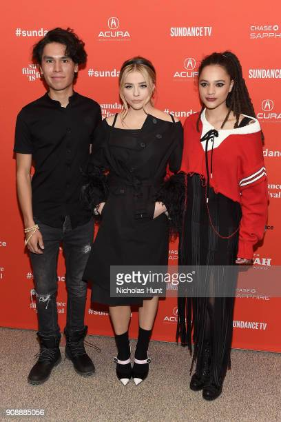 Actors Forrest Goodluck Chloë Grace Moretz and Sasha Lane attend the 'The Miseducation Of Cameron Post' And 'I Like Girls' Premieres during the 2018...
