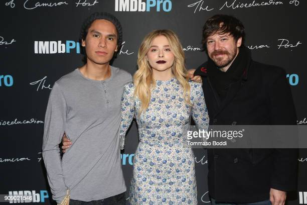Actors Forrest Goodluck Chloe Grace Moretz and John Gallagher Jr attend The IMDbPro Party to Celebrate the Premiere of 'The Miseducation of Cameron...