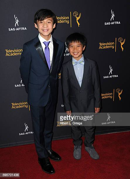Actors Forrest Wheeler and Ian Chen arrive for the Television Academy And SAGAFTRA's 4th Annual Dynamic And Diverse Celebration held at Saban Media...