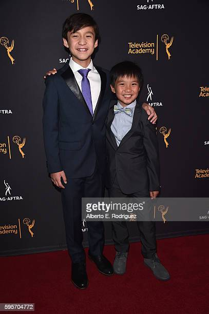Actors Forrest Wheeler left and Ian Chen attend the Television Academy And SAGAFTRA's 4th Annual Dynamic and Diverse Celebration at The Saban Media...
