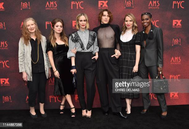"Actors Frances Conroy, Billie Lourd, Sarah Paulson, Cody Fern, Leslie Grossman and Adina Porter arrive for 20th Century Fox Television/FX's ""American..."