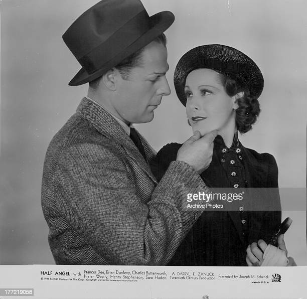 Actors Frances Dee and Brian Donlevy in a scene from the the movie 'Half Angel' 1936