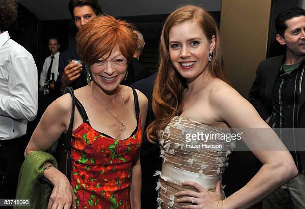 Actors Frances Fisher and Amy Adams pose at a special screening Of Miramax's 'Doubt' after party held at the Academy Of Motion Pictures Arts and...