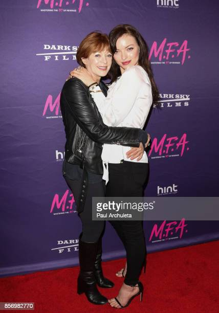 Actors Frances Fisher and Francesca Eastwood attend the premiere of Dark Sky Films' 'MFA' at The London West Hollywood on October 2 2017 in West...