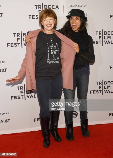 Actors Frances Fisher and Rosario Dawson attend the Awake A Dream from Standing Rock Premiere during 2017 Tribeca Film Festival at Cinepolis Chelsea...