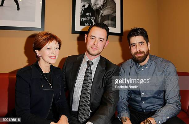 Actors Frances Fisher Colin Hanks and Adam Goldberg attend the 2015 IDA Awards at Paramount Studios on December 5 2015 in Hollywood California