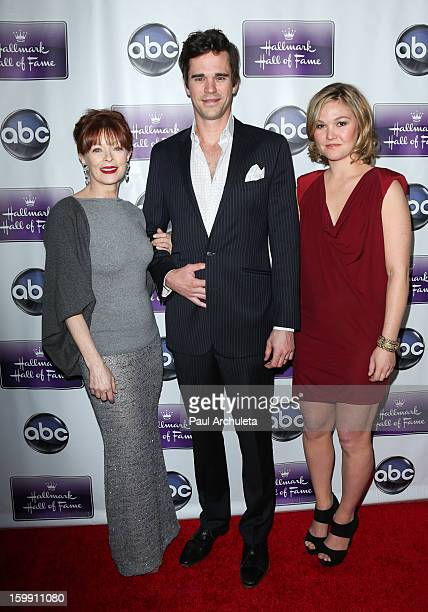 "Actors Frances Fisher, David Walton and Julia Stiles attend the premiere of ""The Makeover"" at the Fox Studio Lot on January 22, 2013 in Century City,..."