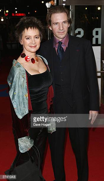 Actors Francesca Annis and Ralph Fiennes attend the What We Did Last Summer Robbie Williams Live At Knebworth DVD Premiere at The Odeon Leicester...