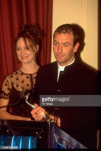 Actors Francesca Annis and Robson Green at the National Television Awards at the Royal Albert Hall in London on October 8, 1997.
