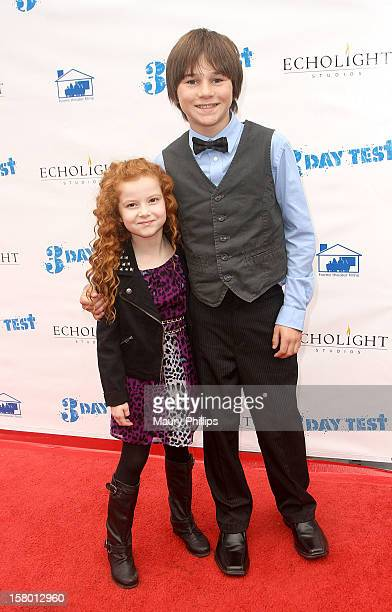 Actors Francesca Capaldi and Aidan Potter attend '3 Day Test' Los Angeles Premiere at Downtown Independent Theatre on December 8 2012 in Los Angeles...