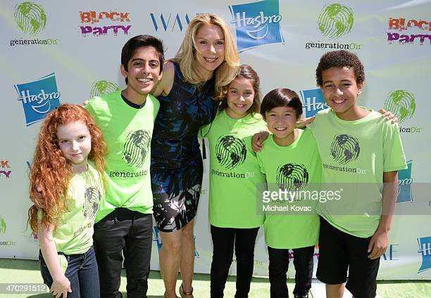 Actors Francesca Capaldi Karan Brar Jacqueline Murphy Emmy Perry Forrest Wheeler and Tyree Brown attend the Points of Light generationOn Block Party...
