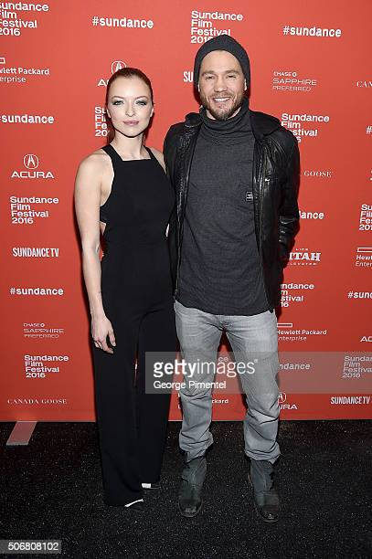 Actors Francesca Eastwood and Chad Michael Murray attend the 'Outlaws Angels' Premiere during the 2016 Sundance Film Festival at Library Center...