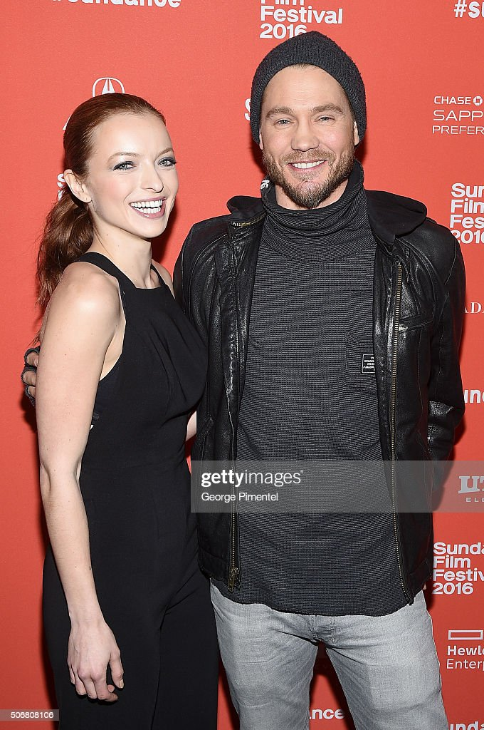 Actors Francesca Eastwood and Chad Michael Murray attend the 'Outlaws & Angels' Premiere during the 2016 Sundance Film Festival at Library Center Theater on January 25, 2016 in Park City, Utah.