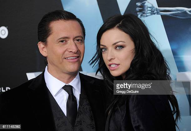 Actors Francesca Eastwood and Clifton Collins Jr arrive at the premiere of HBO's 'Westworld' at TCL Chinese Theatre on September 28 2016 in Hollywood...