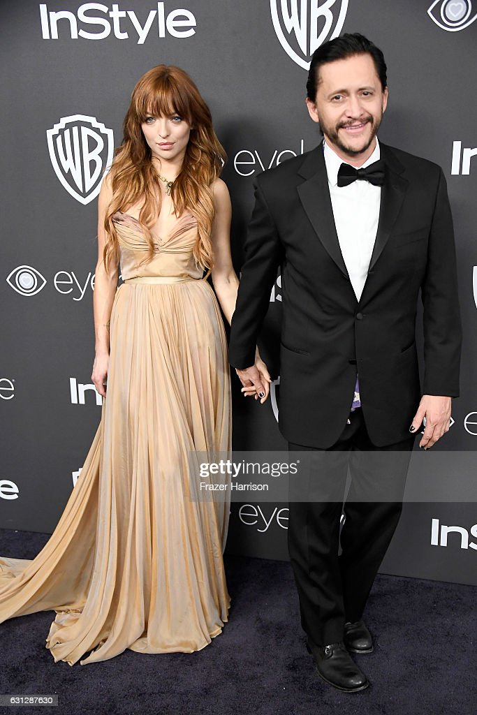 Actors Francesca Eastwood (L) and Clifton Collins Jr. attend the 18th Annual Post-Golden Globes Party hosted by Warner Bros. Pictures and InStyle at The Beverly Hilton Hotel on January 8, 2017 in Beverly Hills, California.