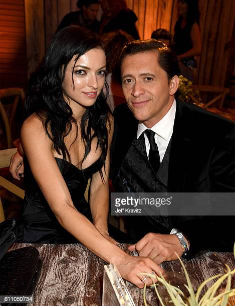 Actors Francesca Eastwood and Clifton Collins Jr attend the premiere of HBO's 'Westworld' after party at The Hollywood Roosevelt on September 28 2016...