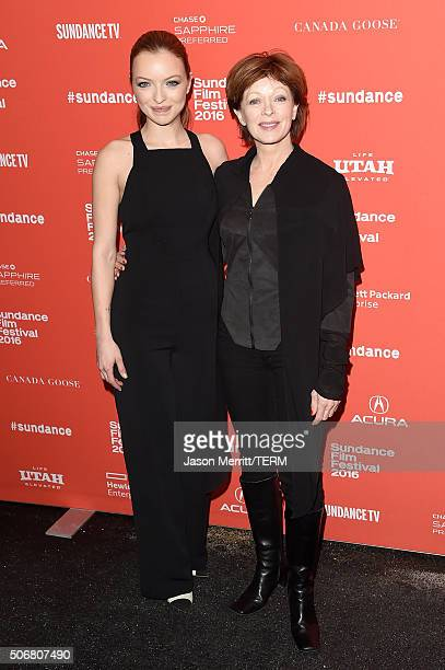 Actors Francesca Eastwood and Frances Fisher attend the 'Outlaws Angels' Premiere during the 2016 Sundance Film Festival at Library Center Theater on...