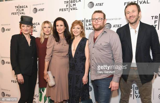 Actors Francesca Faridany Dree Hemingway Andie MacDowell Juliet Rylance James Adomian and Chris O'Dowd attend the Love After Love screening during...