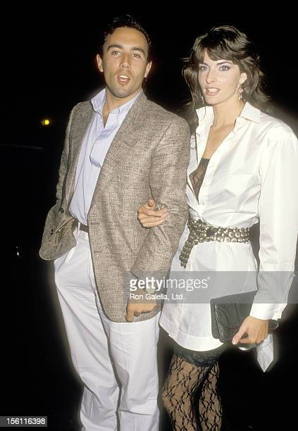 Actors Francesco Quinn and Joan Severance attend the Love Is Feeding Everyone Benefit Party on February 9 1987 at Hard Rock Cafe in Los Angeles...