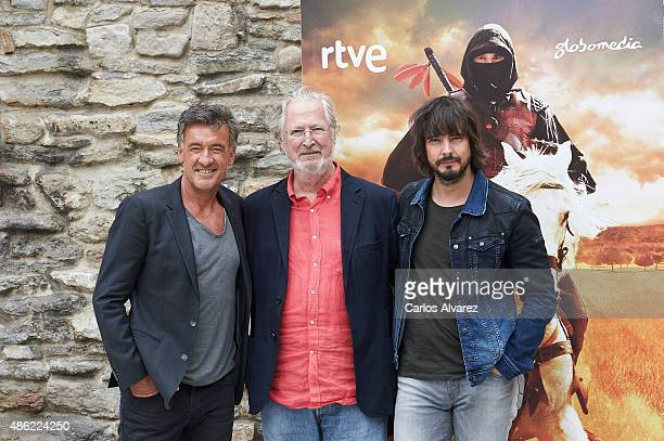 "Actors Francis Lorenzo, Xavier Elorriaga and David Janner attend ""Aguila Roja"" new season photocall during the 7th FesTVal Television Festival 2015..."