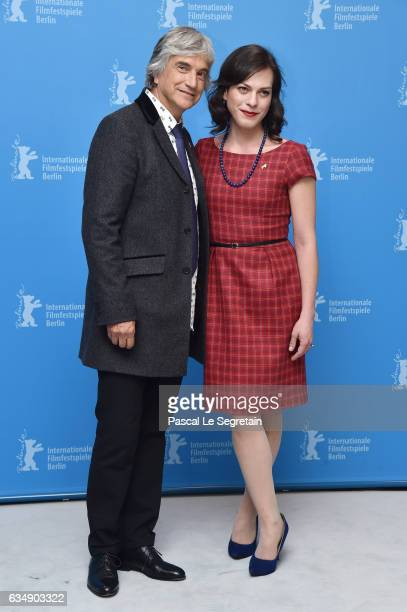 Actors Francisco Reyes and Daniela Vega attend the 'A Fantastic Woman' photo call during the 67th Berlinale International Film Festival Berlin at...