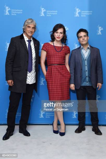 Actors Francisco Reyes Daniela Vega and film director and screenwriter Sebastian Lelio attend the 'A Fantastic Woman' photo call during the 67th...