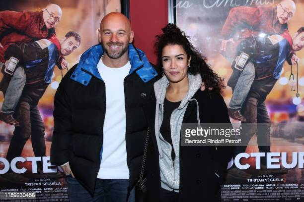 Actors Franck Gastambide and Sabrina Ouazani attend the Docteur photocall at cinema Publicis on November 21 2019 in Paris France