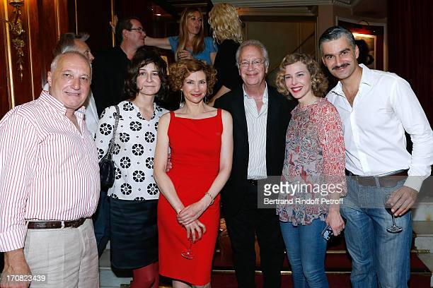 Actors Francois Berleand Valerie Lemercier Florence Pernel Director Bernard Murat Pascale Arbillot and Francois Vincentelli after the last...
