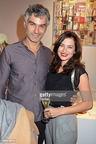 Actors Francois Vincentelli and Alice Dufour attend the Cocktail Orange during the FIAC 2015 International Contemporary Art Fair At Grand Palais on...