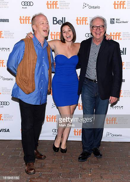 Actors Frank Deal Kether Donohue and director Barry Levinson attend The Bay premiere during the 2012 Toronto International Film Festival at the...
