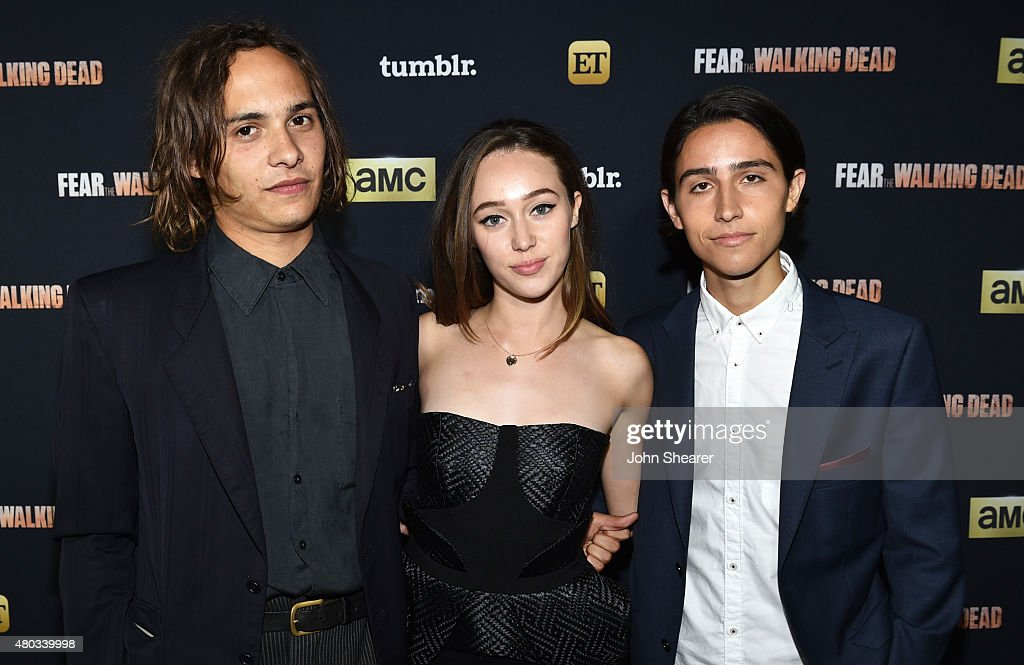 Actors Frank Dillane, Alycia Debnam-Carey and Lorenzo James Henrie attend AMC, ET And Tumblr's 'Fear The Walking Dead' Event during Comic-Con International 2015 on July 10, 2015 in San Diego, California.