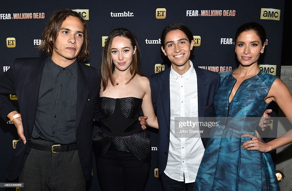 Actors Frank Dillane, Alycia Debnam-Carey, Lorenzo James Henrie and Mercedes Mason attend AMC, ET And Tumblr's 'Fear The Walking Dead' Event during Comic-Con International 2015 on July 10, 2015 in San Diego, California.