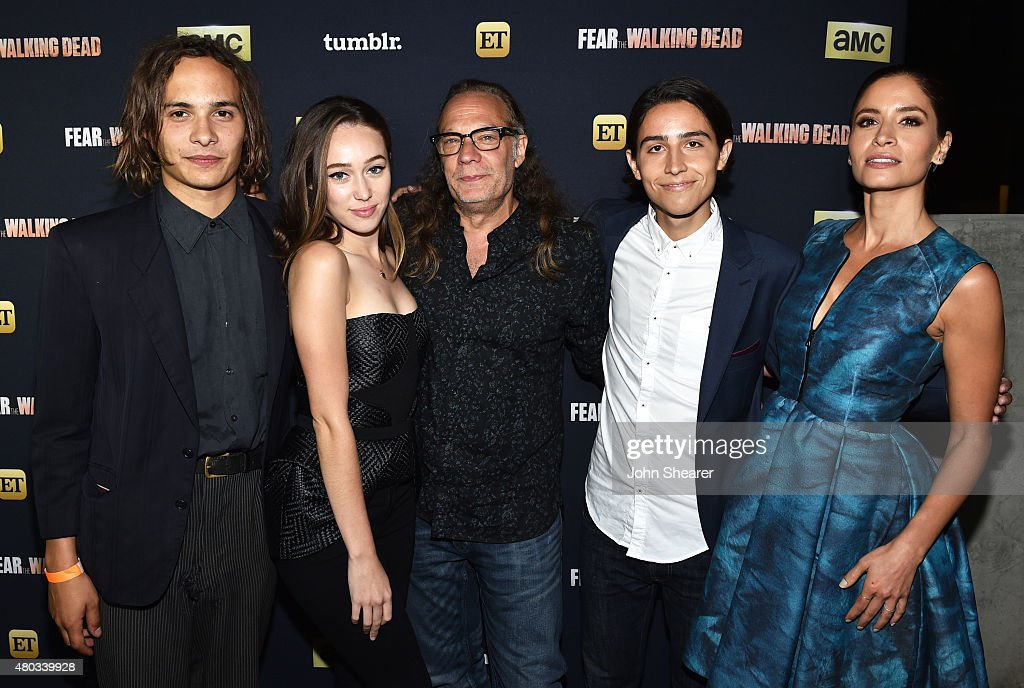 Actors Frank Dillane, Alycia Debnam-Carey, producer Greg Nicotero, actors Lorenzo James Henrie and Mercedes Mason attend AMC, ET And Tumblr's 'Fear The Walking Dead' Event during Comic-Con International 2015 on July 10, 2015 in San Diego, California.