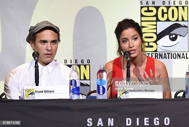 Actors Frank Dillane and Mercedes Masohn attend AMC's 'Fear The Walking Dead' Panel during ComicCon International 2016 at San Diego Convention Center...