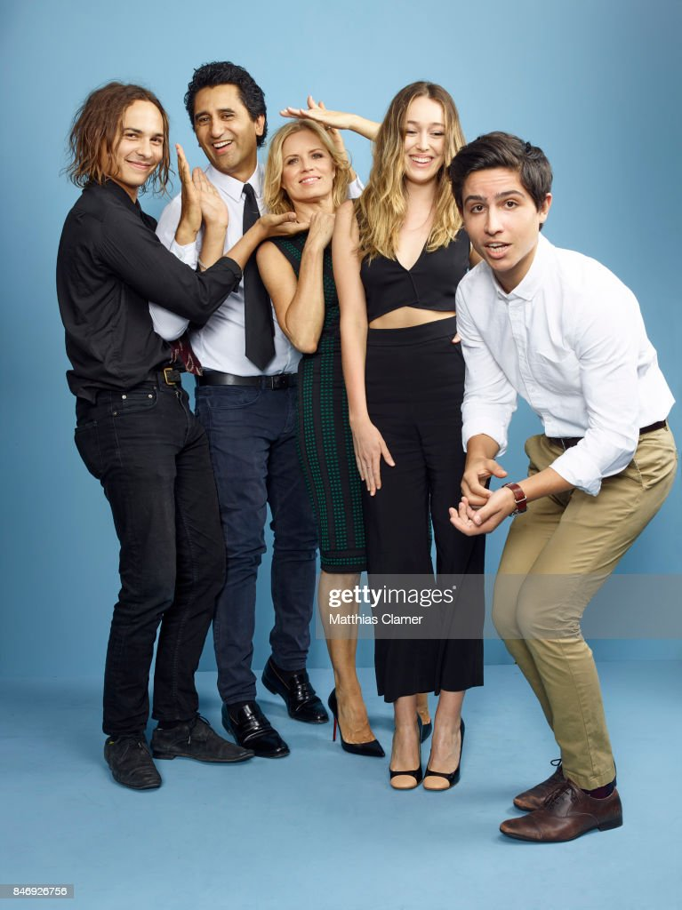 Actors Frank Dillane, Cliff Curtis, Kim Dickens, Alycia Debnam-Carey and Lorenzo James Henrie from 'Fear of the Walking Dead' are photographed for Entertainment Weekly Magazine on July 21, 2016 at Comic Con in the Hard Rock Hotel in San Diego, California. PUBLISHED