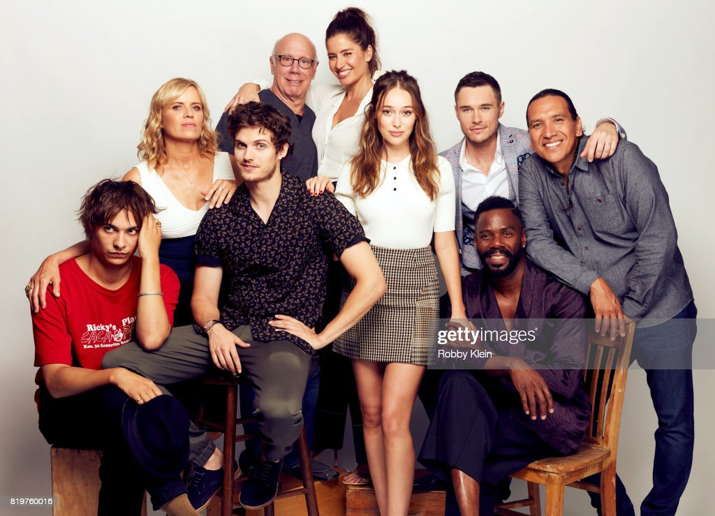 Actors Frank Dillane, Kim Dickens, Daniel Sharman, Dayton Callie, Mercedes Mason, Alycia Debnam-Carey, Sam Underwood, Colman Domingo and Michael Greyeyes from AMC's 'Fear the Walking Dead' pose for a portrait during Comic-Con 2017 at Hard Rock Hotel San Diego on July 20, 2017 in San Diego, California.