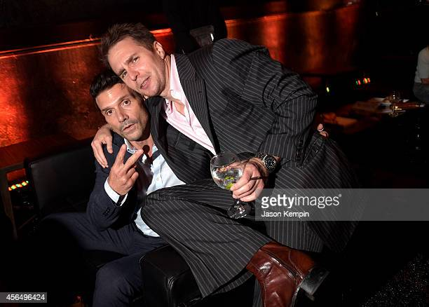 Actors Frank Grillo and Sam Rockwell attend the Premiere Event for DIRECTV's KINGDOM on October 1 2014 in Venice California