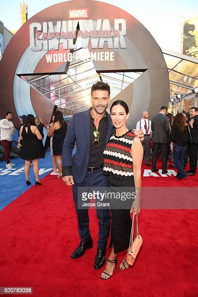 Actors Frank Grillo and Wendy Moniz attend The World Premiere of Marvel's 'Captain America Civil War' at Dolby Theatre on April 12 2016 in Los...