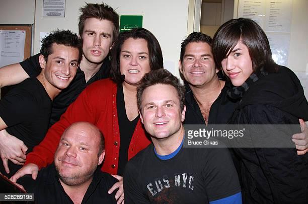 COVERAGE* Actors Frankie James Grande Gavin Creel Kevin Chamberlin Actress/Comedian Rosie O'Donnell Sam Harris Matt Zarley and Danny Noriega pose...