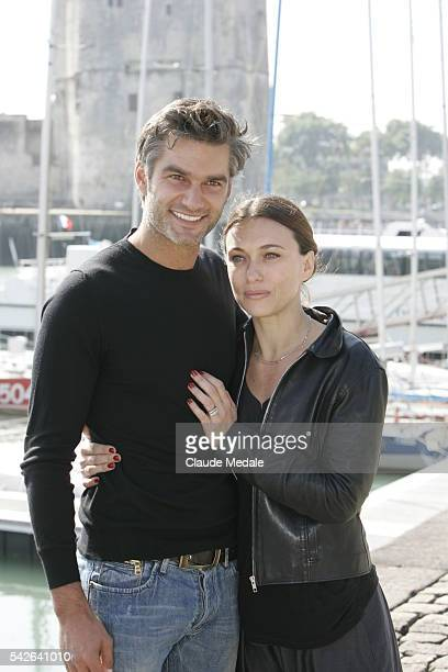 Actors François Vincentelli and Natacha Lindinger attend the photocall of Hard during the 10th annual Festival de la Fiction TV in La Rochelle