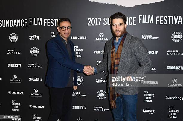 Actors Fred Armisen and Adam Pally attend the Band Aid Premiere at Eccles Center Theatre on January 24 2017 in Park City Utah